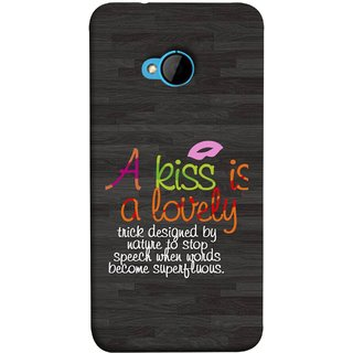 FUSON Designer Back Case Cover For HTC M7 :: HTC One M7 (Words Superfluous To Stop Speech Become Stop)