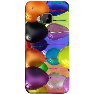 FUSON Designer Back Case Cover For HTC One M9 :: HTC One M9S :: HTC M9 (Watercolor Colorful Holiday Sketch Balloons Set )