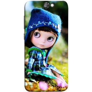 FUSON Designer Back Case Cover For HTC One A9 (Cute Barbie Doll Images Grass Green Best Back Cover)