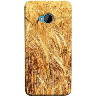 FUSON Designer Back Case Cover For HTC M7 :: HTC One M7 (Wheat Farmers Farms Morning Sunlight Bright Day)