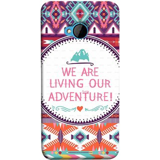 FUSON Designer Back Case Cover For HTC M7 :: HTC One M7 (Colourful Wallpaper Best Quotes Bright Wall Design)