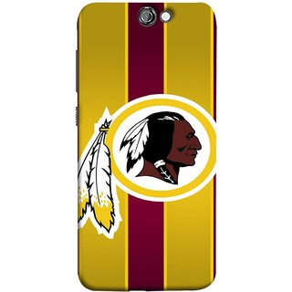 FUSON Designer Back Case Cover For HTC One A9 (Yellow Circles White Yellow And Maroon Vertical)