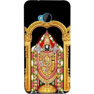 FUSON Designer Back Case Cover For HTC M7 :: HTC One M7 (South Rich God Mandir Tirupathi Balaji Gold )