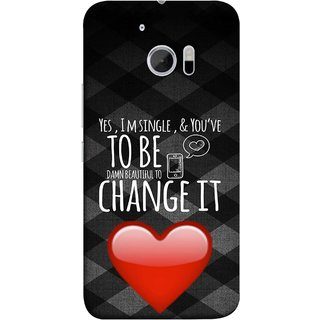 FUSON Designer Back Case Cover For HTC 10 :: HTC One M10 (Damn Beautiful To Change It Hearts Love Pure )