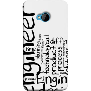 FUSON Designer Back Case Cover For HTC M7 :: HTC One M7 (Engineer Process Corporate Jobs Technical Solutions )