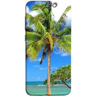 FUSON Designer Back Case Cover For HTC One A9 (Palmtrees At The Beach Sea Blue Sky New Horizons )