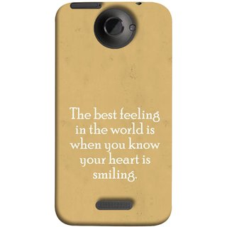 FUSON Designer Back Case Cover For HTC One X :: HTC One X+ :: HTC One X Plus :: HTC One XT (Heart Is Smiling Best Feeling In World Keep Smile)