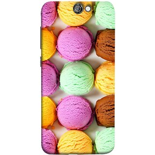 FUSON Designer Back Case Cover For HTC One A9 (Cherry Flowers Hearts Lemons Almonds Cashews Pista)