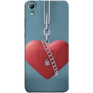 FUSON Designer Back Case Cover For HTC Desire 828 Dual Sim (Padlock Hanging With Steel Chains Hurt Tight)