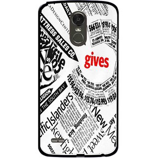 Snooky Printed Newspaper Mobile Back Cover For Lg Stylus 3 - White