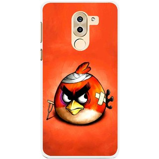 Snooky Printed Wouded Bird Mobile Back Cover For Huawei Honor 6X - Red