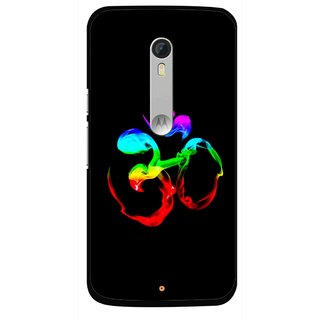 Snooky Printed Om Mobile Back Cover For Motorola Moto X Style - Black