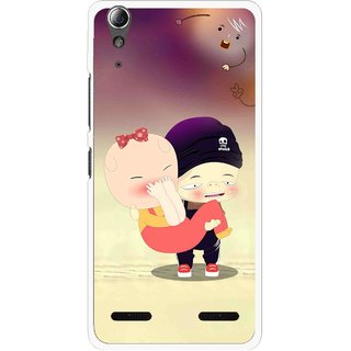 Snooky Printed Friendship Mobile Back Cover For Lenovo A6000 Plus - Multi