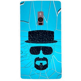 Snooky Printed Beard Man Mobile Back Cover For OnePlus 2 - Blue