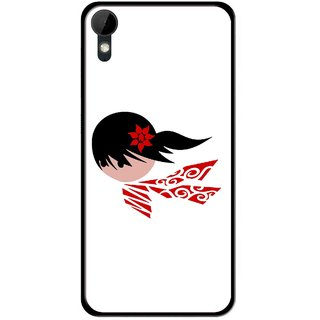 Snooky Printed Caty Girl Mobile Back Cover For HTC Desire 825 - Multi