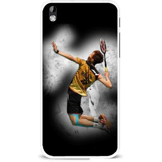 Snooky Printed Badminton Mania Mobile Back Cover For HTC Desire 816 - Multi