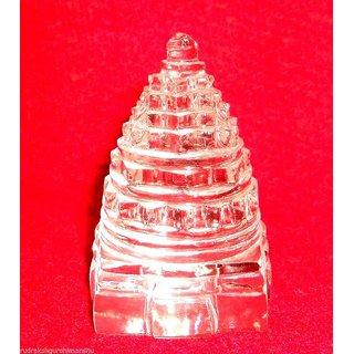 Original Sphatik Shree Yantra / Quartz Crystal Shri yantra - Lab certified