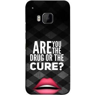 FUSON Designer Back Case Cover For HTC One M9 :: HTC One M9S :: HTC M9 (Lips Kisses Inspiration Motivational Quotes Words Sayings )