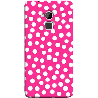 FUSON Designer Back Case Cover For HTC One Max :: HTC One Max Dual SIM (Small Bubbles Marbles Circle Pink Board)