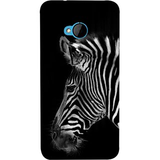 FUSON Designer Back Case Cover For HTC M7 :: HTC One M7 (Close Up Portrait Of A Baby Zebra Long Ears Strips)