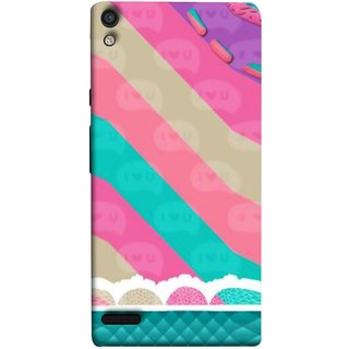 FUSON Designer Back Case Cover For Huawei Ascend P6 (Paper Sheet Design Perfect Back Cover Saree Suits Women Girls )