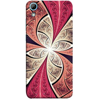FUSON Designer Back Case Cover For HTC Desire 828 Dual Sim (Heart Shape Pink Leaves Rivers Artist Perfect Waves )