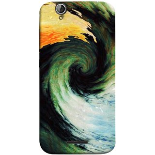 FUSON Designer Back Case Cover For Acer Liquid Z630 :: Acer Liquid Zade Z630S (Galaxy Universe Lava Icy Water Green Land )