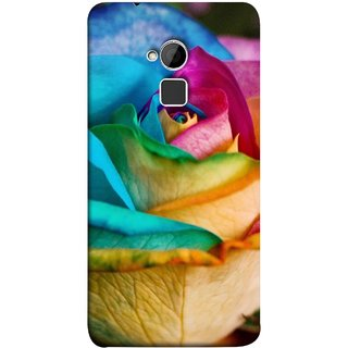 FUSON Designer Back Case Cover For HTC One Max :: HTC One Max Dual SIM (Rose Colours Red Pink Yellow Blue Lovely Roses)