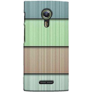 FUSON Designer Back Case Cover For Alcatel Flash 2 :: Alcatel Onetouch Flash 2 (Strips Green Gray Sunmica Plywood Back Art)
