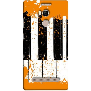 FUSON Designer Back Case Cover For Gionee Elife E8 (Black And White Colour Splash Droplets Music )