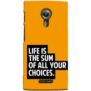 FUSON Designer Back Case Cover For Alcatel Flash 2 :: Alcatel Onetouch Flash 2 (Jindgi Tumhari Nirnay Ka Natija Hai Long Life)