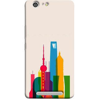 FUSON Designer Back Case Cover For Gionee Marathon M5 (Astounding Skyscrapers Of Remarkable Architectural)
