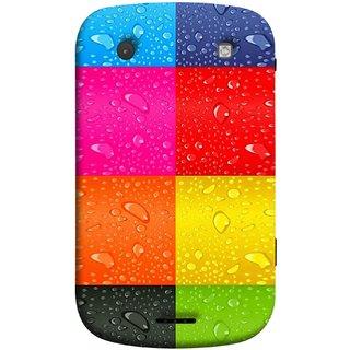 FUSON Designer Back Case Cover For BlackBerry Bold Touch 9900 :: BlackBerry Dakota :: BlackBerry Magnum (Water Droplets Multicolour Blue Red Pink Sky )
