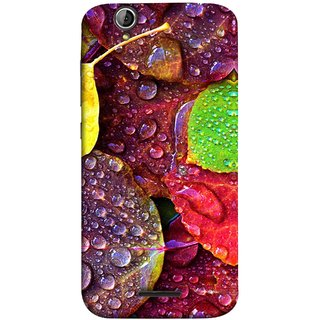 FUSON Designer Back Case Cover For Acer Liquid Z630 :: Acer Liquid Zade Z630S (Big Leaf Leaves Lotus Raindrops Forest Raining Season)