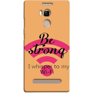 FUSON Designer Back Case Cover For Gionee Elife E8 (Be Strong In Life Always Youngs Boys And Girls Network)