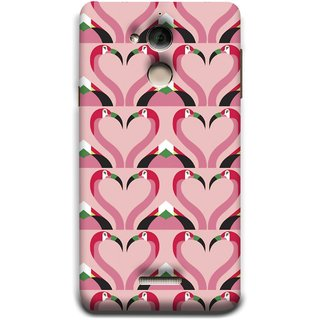 FUSON Designer Back Case Cover For Coolpad Note 5 (Flamingos Head In Heart Shape Tattoo Design)