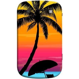 FUSON Designer Back Case Cover For BlackBerry Bold Touch 9900 :: BlackBerry Dakota :: BlackBerry Magnum (Colorful Island Sunset Painting Canvas Wallpapers )
