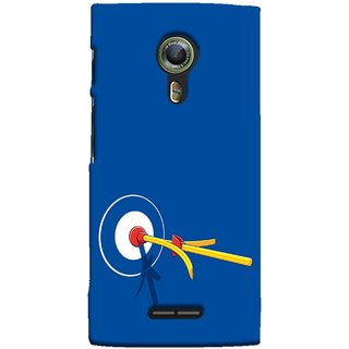 FUSON Designer Back Case Cover For Alcatel Flash 2 :: Alcatel Onetouch Flash 2 (Archery Targets Compound Bow And Arrow)