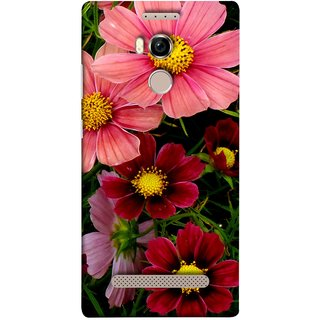 FUSON Designer Back Case Cover For Gionee Elife E8 (Flower Grass Green Small Nice Colourful Gerbera )