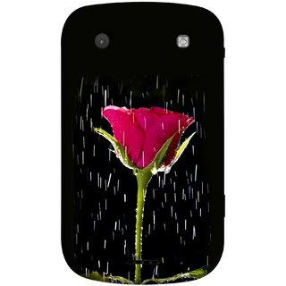 FUSON Designer Back Case Cover For BlackBerry Bold Touch 9900 :: BlackBerry Dakota :: BlackBerry Magnum (Red Rose Love Pink Water Raining Flowers )