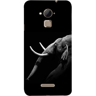 FUSON Designer Back Case Cover For Coolpad Note 3 Lite :: Coolpad Note 3 Lite Dual SIM (Close Up Portrait Of A Baby Elephant Long Ears Strips Forest)