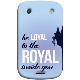 FUSON Designer Back Case Cover For BlackBerry Bold Touch 9900 :: BlackBerry Dakota :: BlackBerry Magnum (Lamppost Hights New Horizon Loyalty Wall Art )