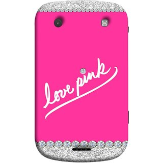 FUSON Designer Back Case Cover For BlackBerry Bold Touch 9900 :: BlackBerry Dakota :: BlackBerry Magnum (Always Like Pink Colours Small Diamonds Girls)