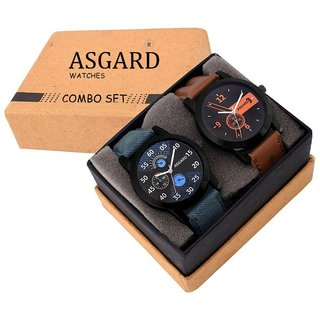 Asgard Analogue Multi-Color Dial Watches For Boys  Mens (Pack of 2)