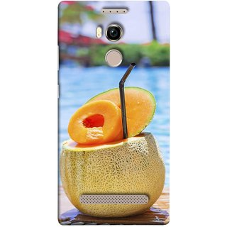 FUSON Designer Back Case Cover For Gionee Elife E8 (Melon Cocktails At Swimming Pool Blue Waters )
