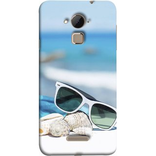FUSON Designer Back Case Cover For Coolpad Note 3 Lite :: Coolpad Note 3 Lite Dual SIM (Summer Vacation Beach Mobile Wallpaper Blue Sky )
