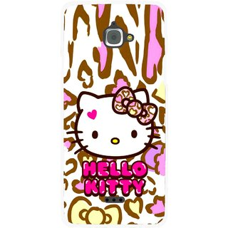 Snooky Printed Cute Kitty Mobile Back Cover For Infocus M350 - Multi