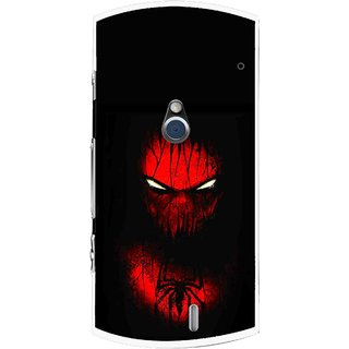 Snooky Printed Spider Eye Mobile Back Cover For Sony Ericsson Xperia Neo V - Black