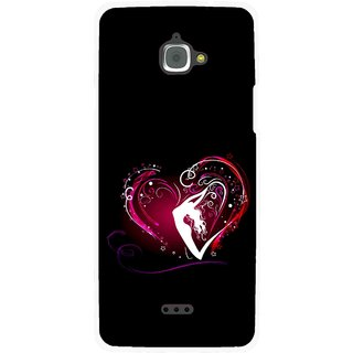 Snooky Printed Lady Heart Mobile Back Cover For Infocus M350 - Black