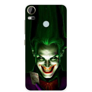 Snooky Printed Loughing Joker Mobile Back Cover For HTC Desire 10 Pro - Green